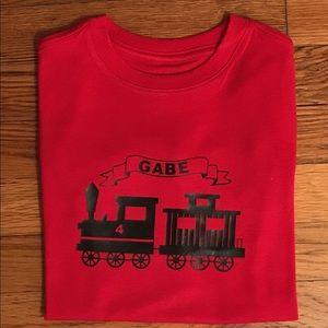 Custom personalized train birthday shirt NWT